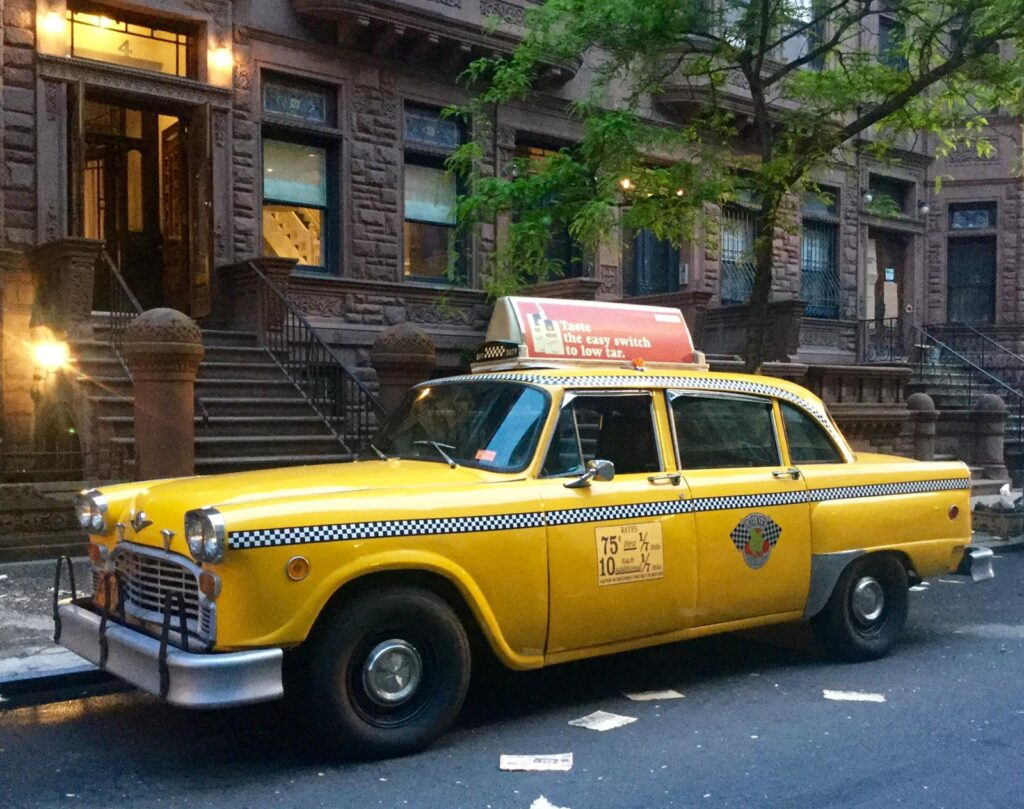 new york city taxi cab photo booth